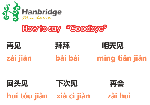 Say hello and goodbye in chinese like a native goodbye in chinese m4hsunfo