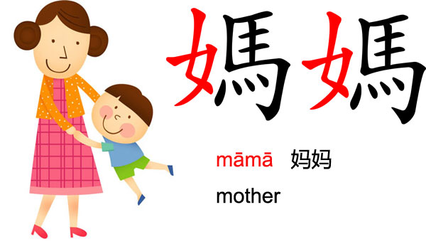 How to write mother in Chinese character