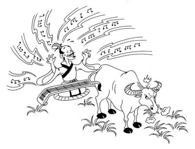 play-the-harp-to-a-cow-in-chinese