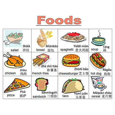 Chinese food vocabulary