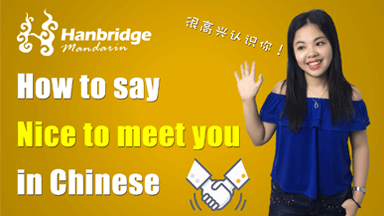 nice to meet you in chinese writing