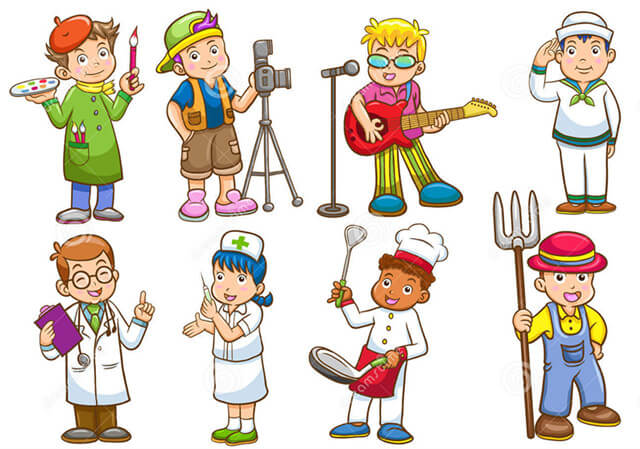 Cartoon character set of people in various occupations. Full ...