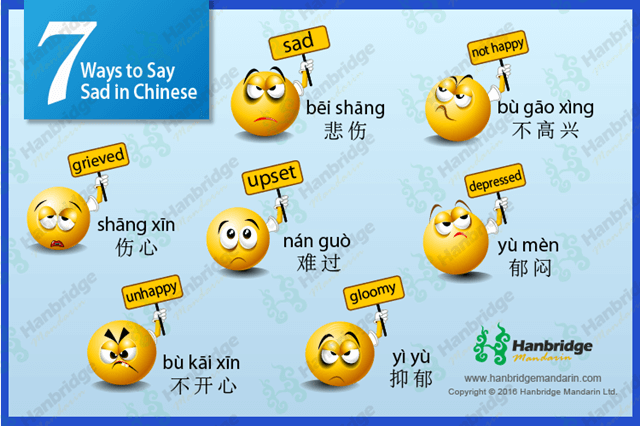 7 Ways to Say Sad in Chinese