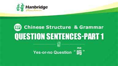 How easy is it to make question sentences in Chinese!