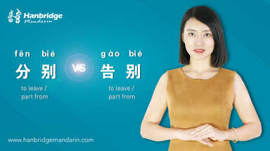 "How to Use ""分别(fēn bié)"" and ""告别(gào bié)"""